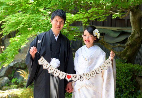 胡蝶蘭の髪飾りの花嫁様