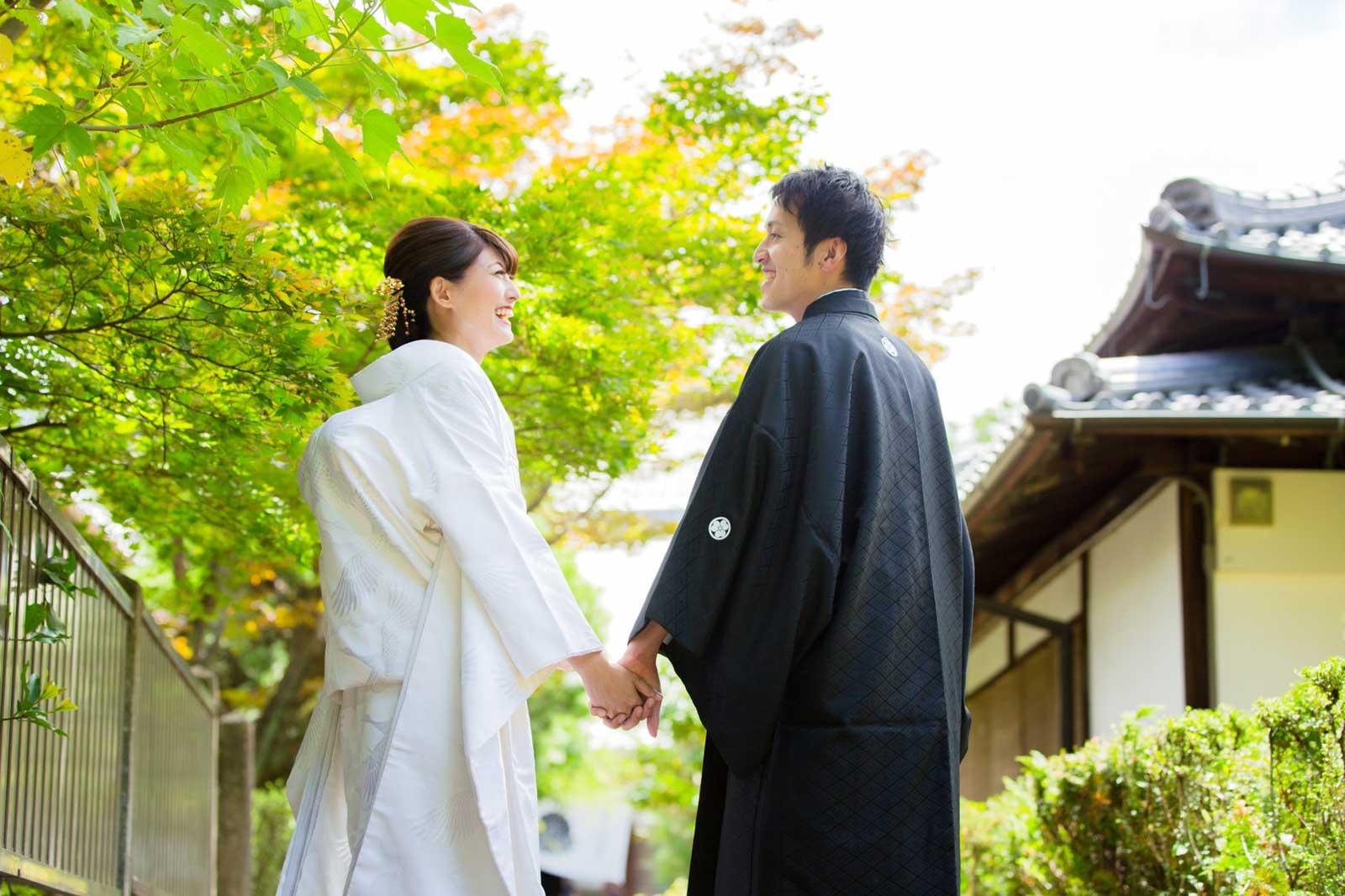 一時帰国中の新郎新婦様の結婚写真