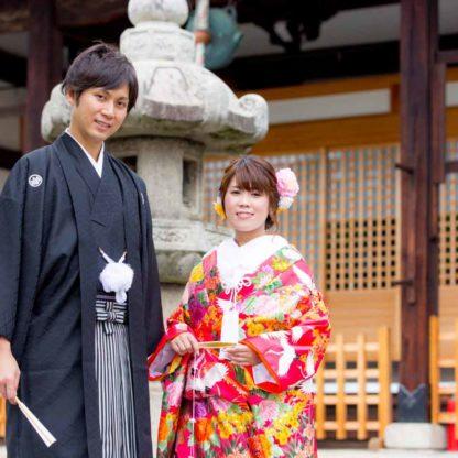 妙蓮寺での和装写真