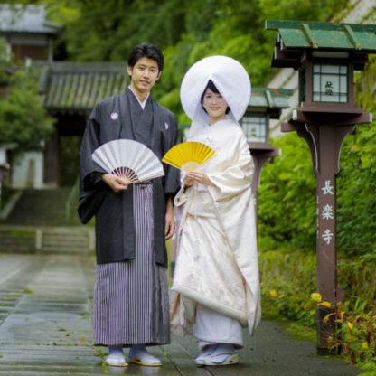 長楽寺参道でのロケーション撮影