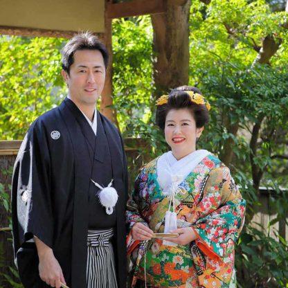 新日本髪の花嫁様と新郎様