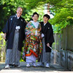 海外からのお客様の家族写真