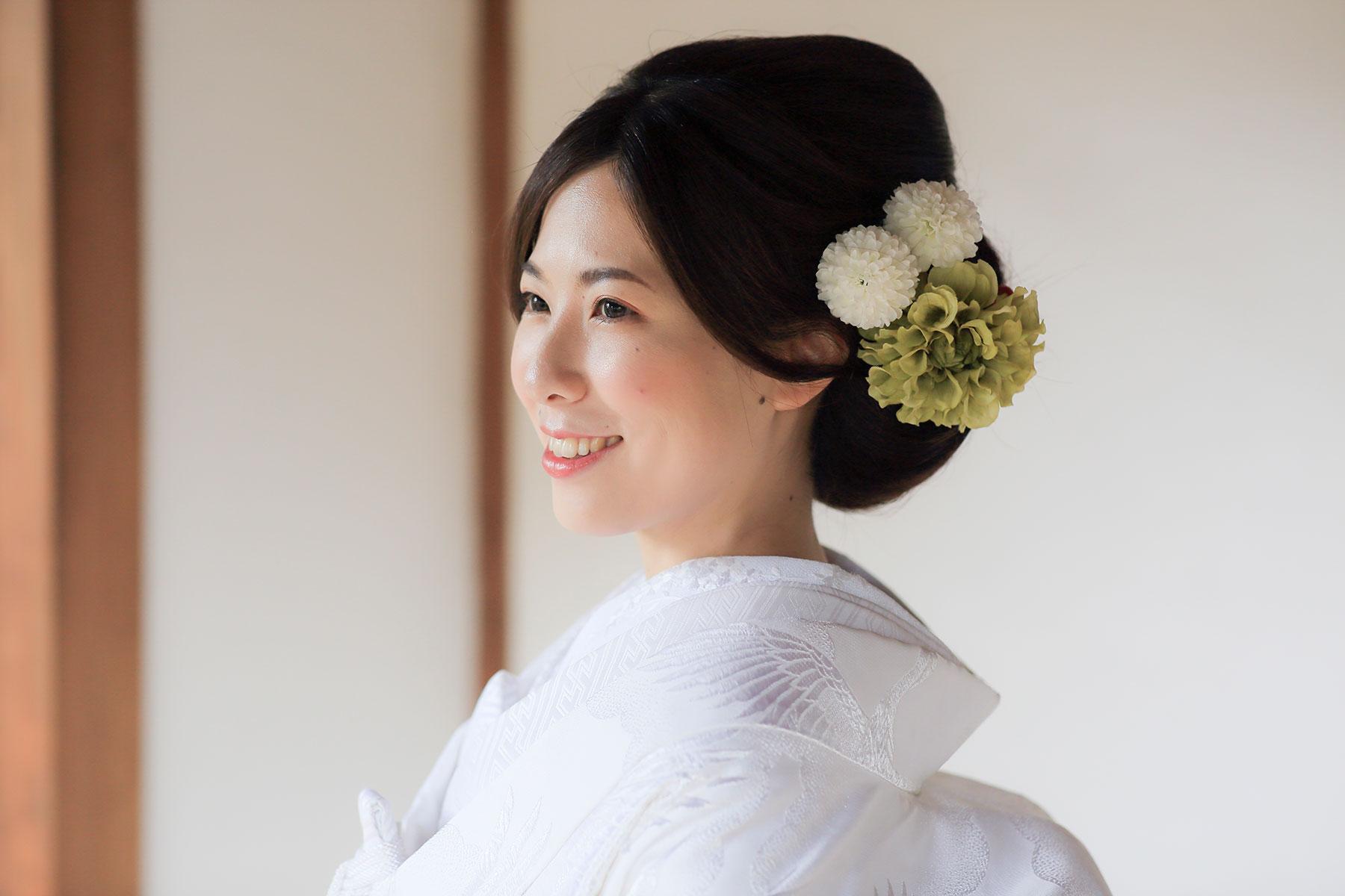 花嫁様のシンプルなヘアセット
