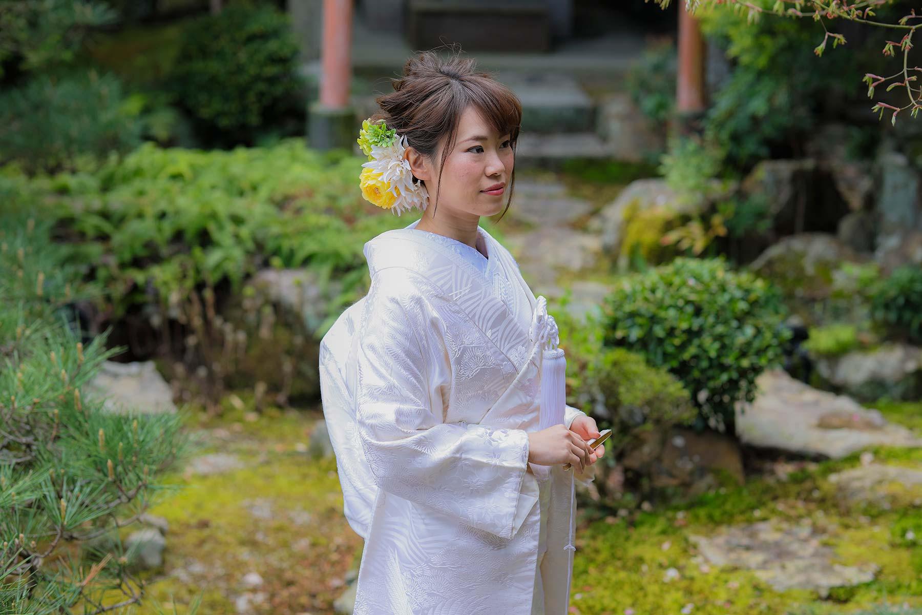 花嫁様の白無垢姿とヘアセット