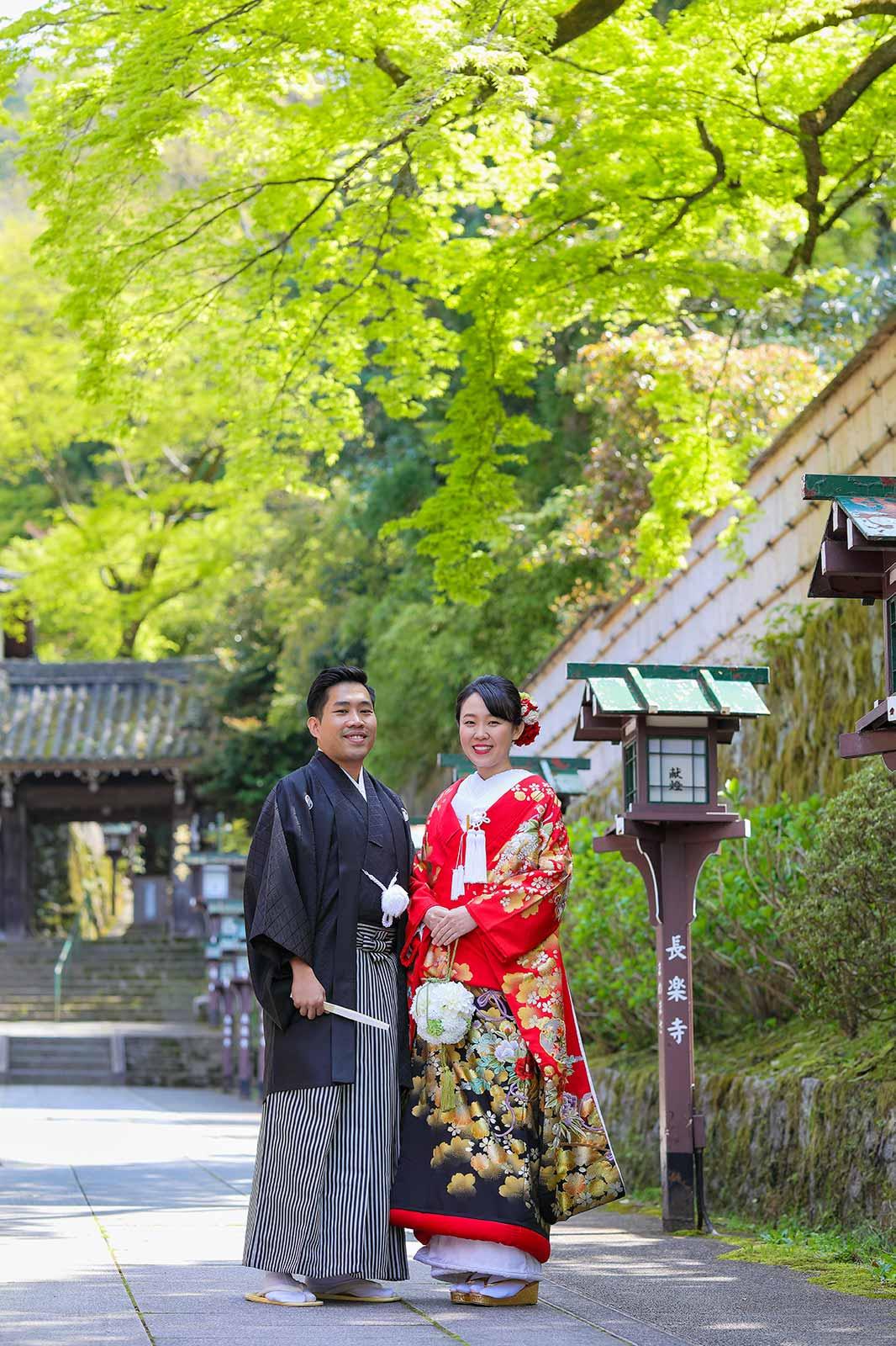長楽寺参道でのロケーション撮影お写真