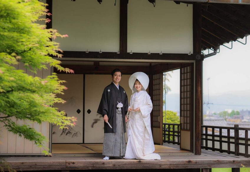 京都の戒光寺での和装前撮りプラン画像