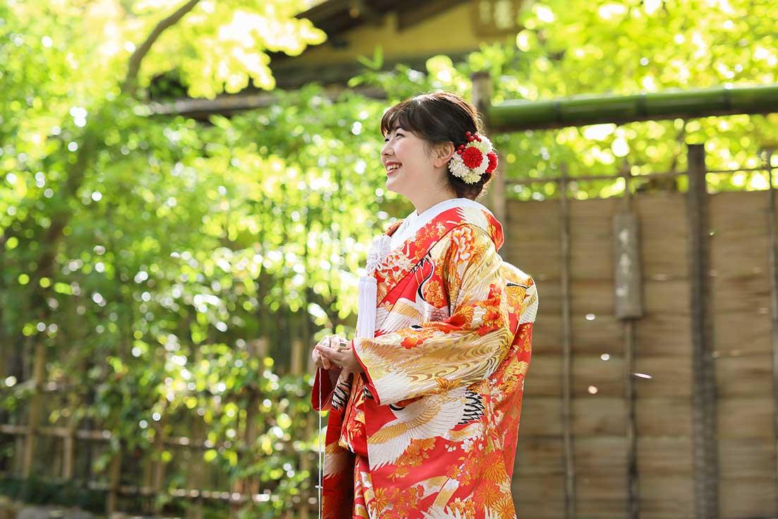 京都紅葉庵での前撮りお写真サンプル