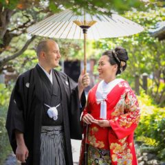 国際結婚のカップル様のお写真