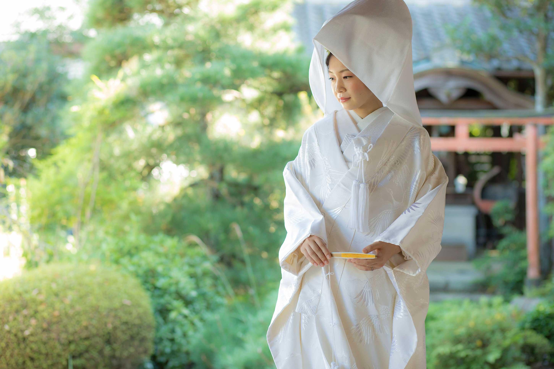 ページヘッダ白無垢綿帽子の花嫁様