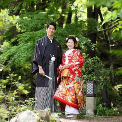 京都円山公園での和装ロケーション撮影