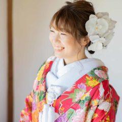 笑顔の可愛い花嫁様
