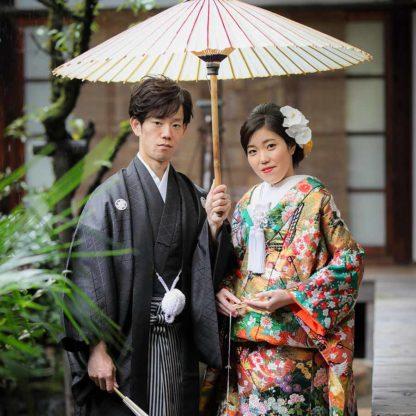 雨の日のお寺での前撮り