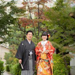 お寺の参道でのお写真例