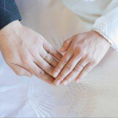 結婚記念の指輪のお写真