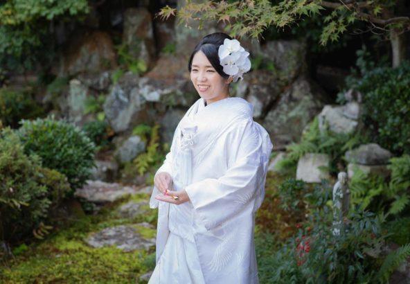 白無垢で笑顔の花嫁様