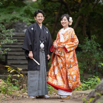 人目につかず京都で前撮りのお写真
