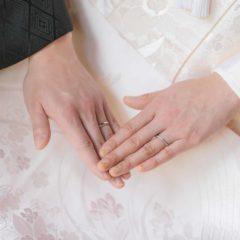 結婚指輪のお写真