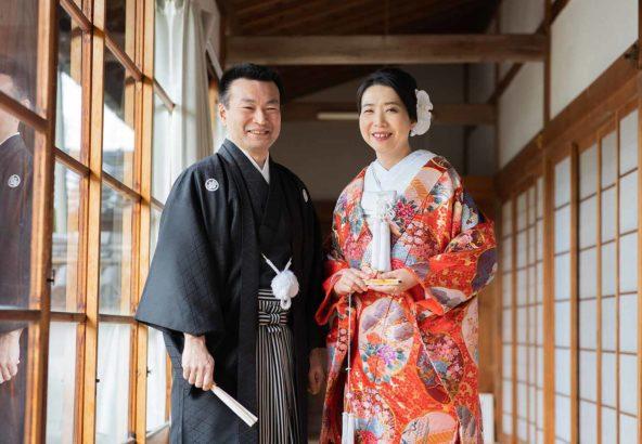 40代のカップル様の和装婚礼写真