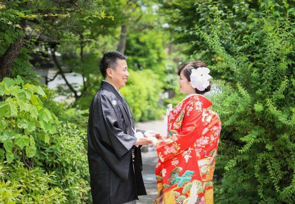 色打掛での京都のフォトウェディング