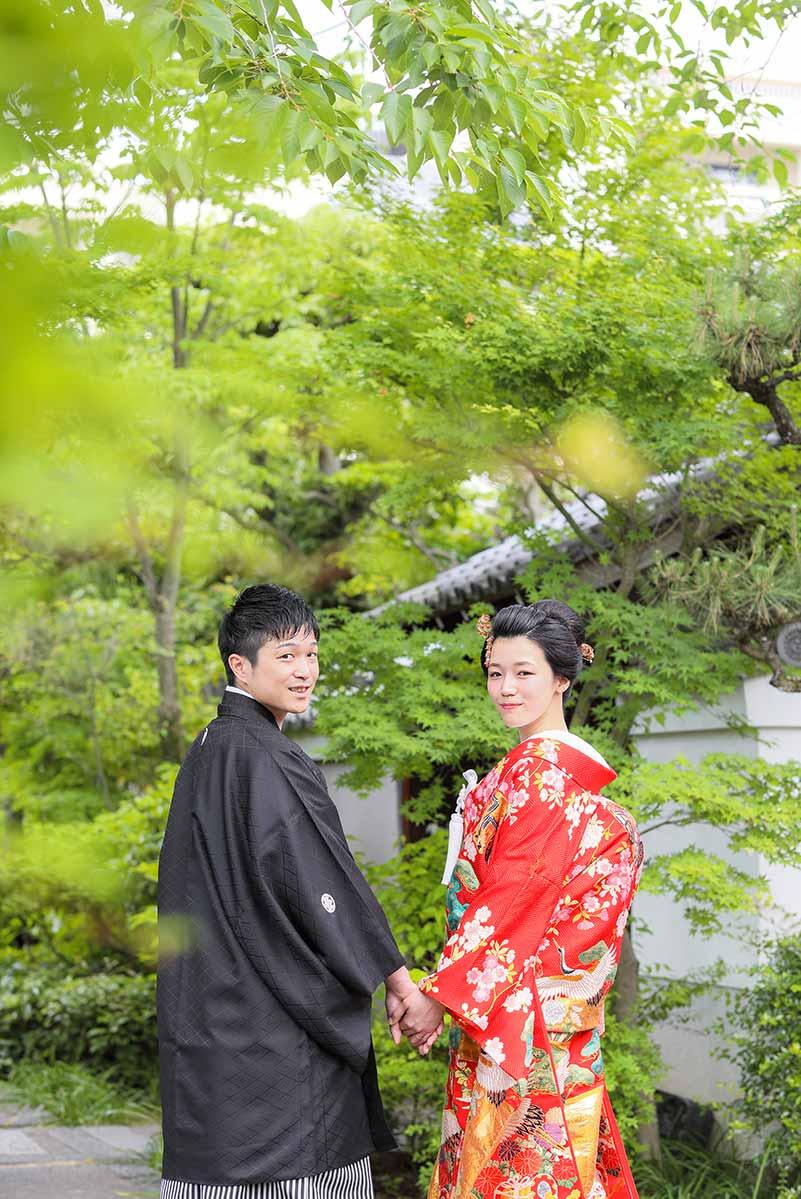 新日本髪に赤の色打掛の花嫁様
