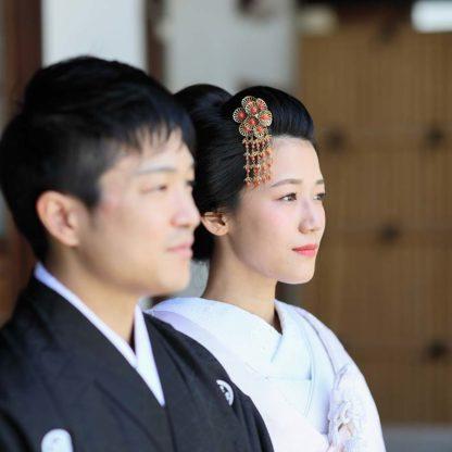 新日本髪に白無垢姿の花嫁様
