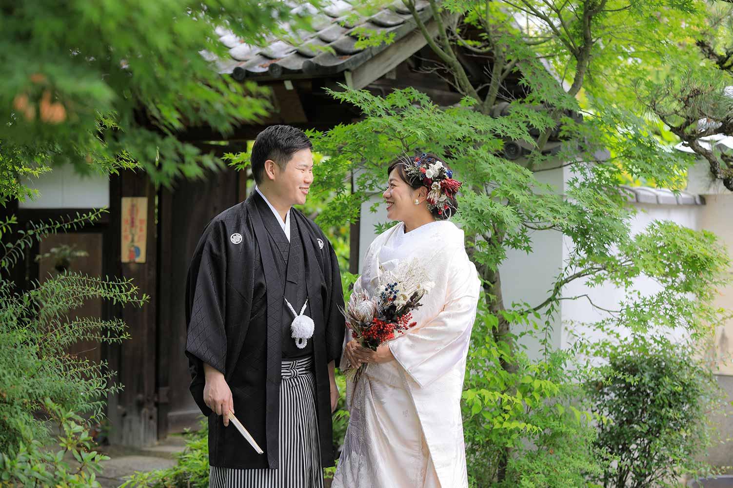 ドライフラワーと髪飾りの花嫁様