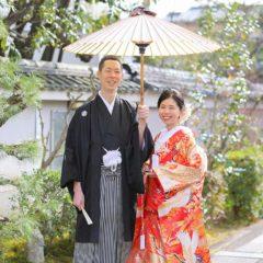 京都で冬に和装フォトウェディング