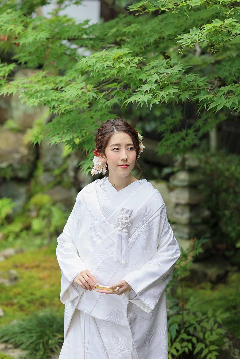 純白の白無垢姿の花嫁様