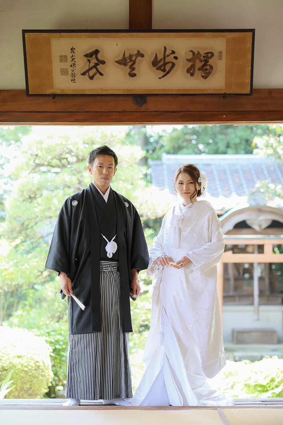 京都のお寺のお庭でロケーション撮影