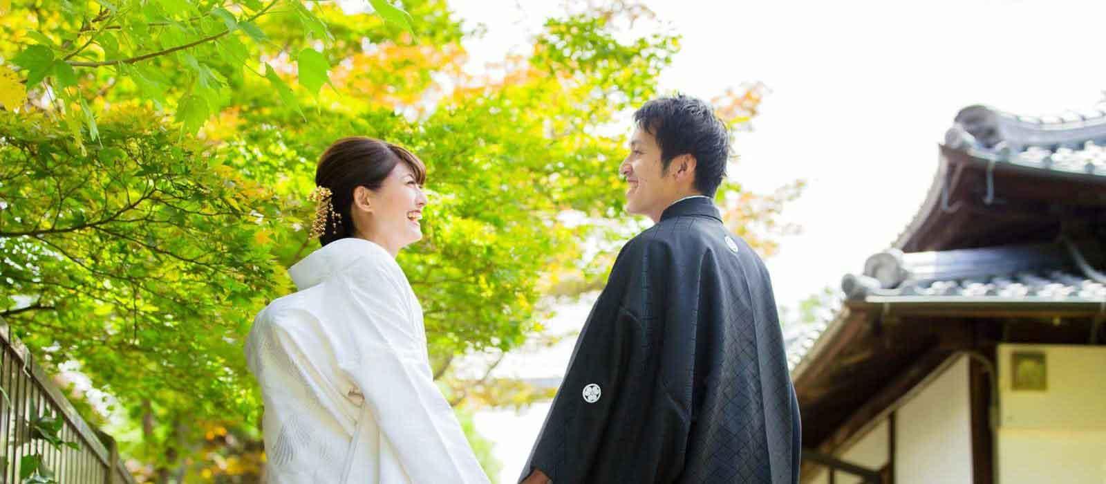 夏の京都での和装前撮りお写真sp