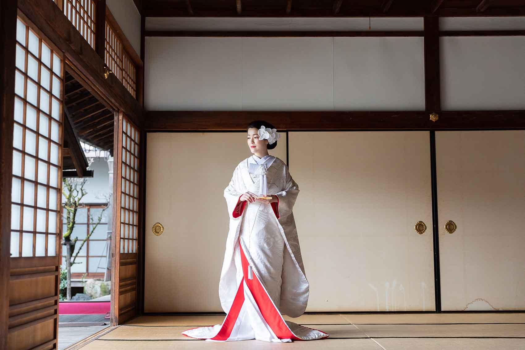 冬の京都の白無垢前撮り
