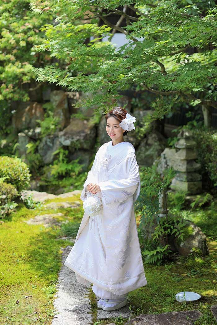 夏の白無垢の花嫁様