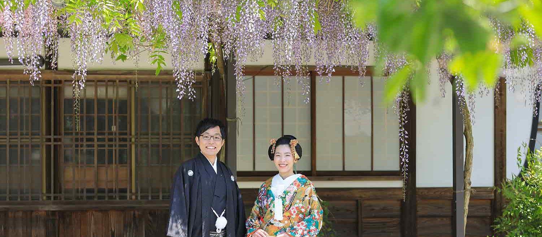 夏の京都で和装前撮りバナー