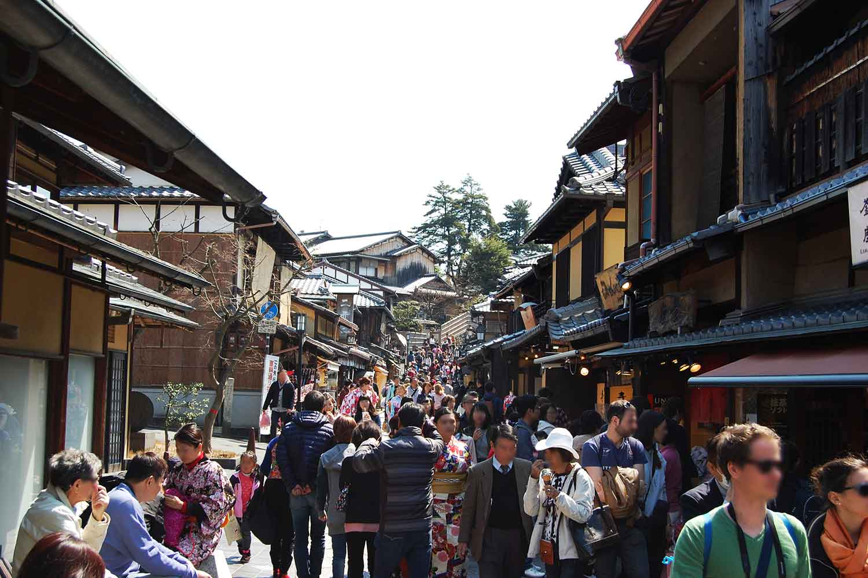 京都の観光混雑状況