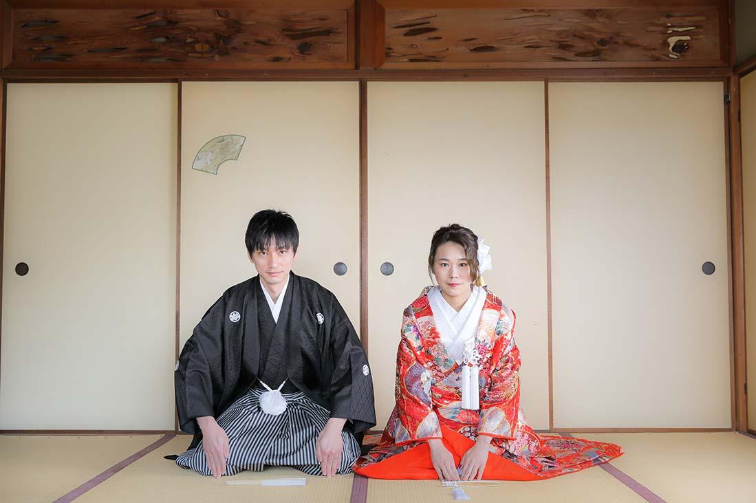 京都紅葉庵和室での正座お写真