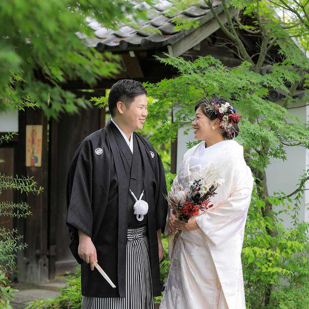 屋内外両方で京都で前撮り