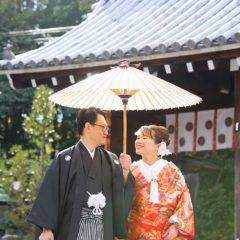 ご主人様も楽しく和装結婚写真