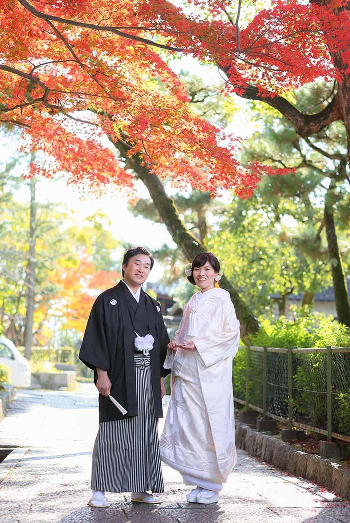 紅葉の15週年結婚写真