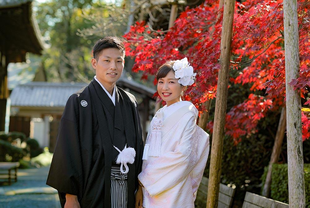 京都の紅葉と前撮りお写真