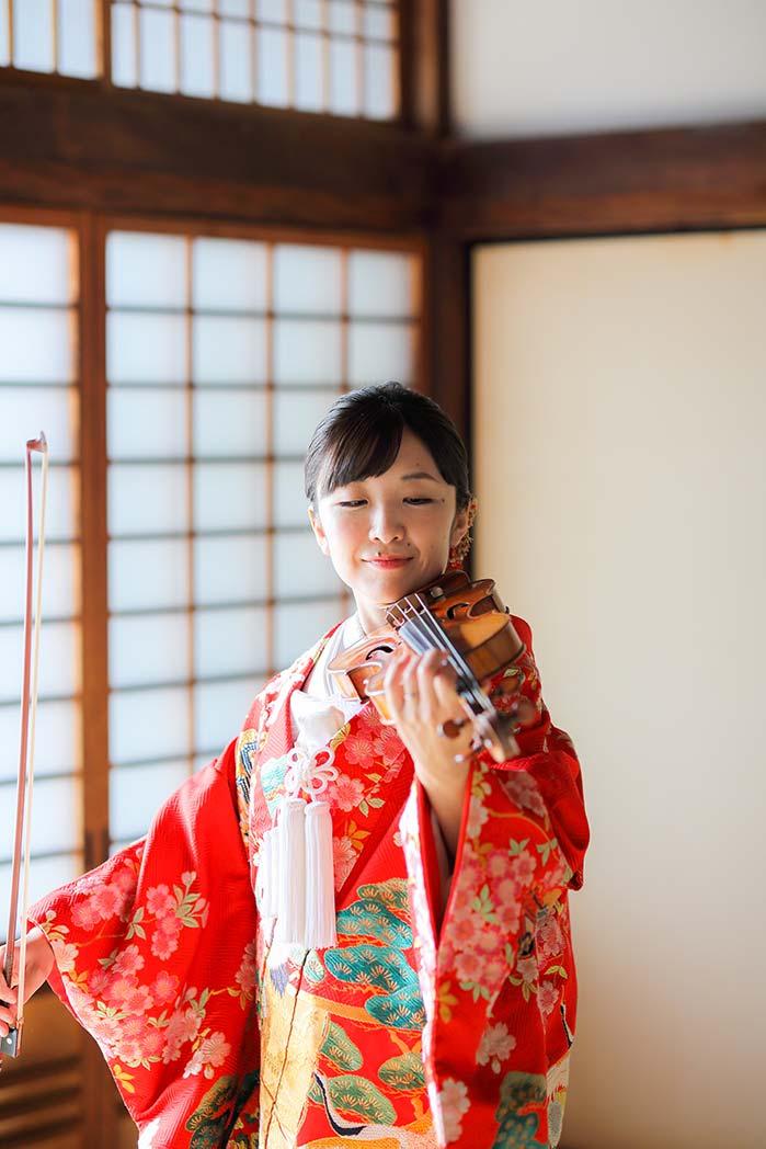 バイオリンと色打掛blog画像