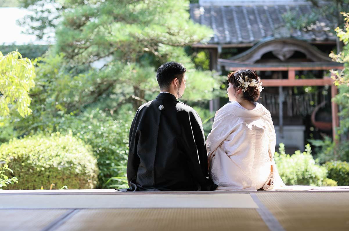 ドライフラワー和装花嫁様