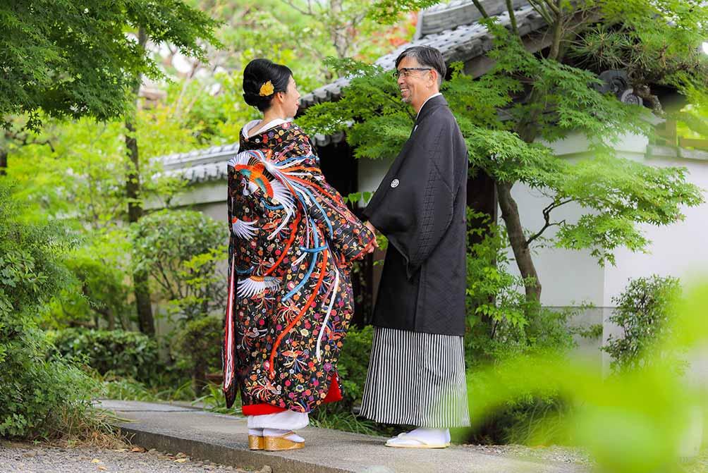 真珠婚式の記念に色打掛でblog画像