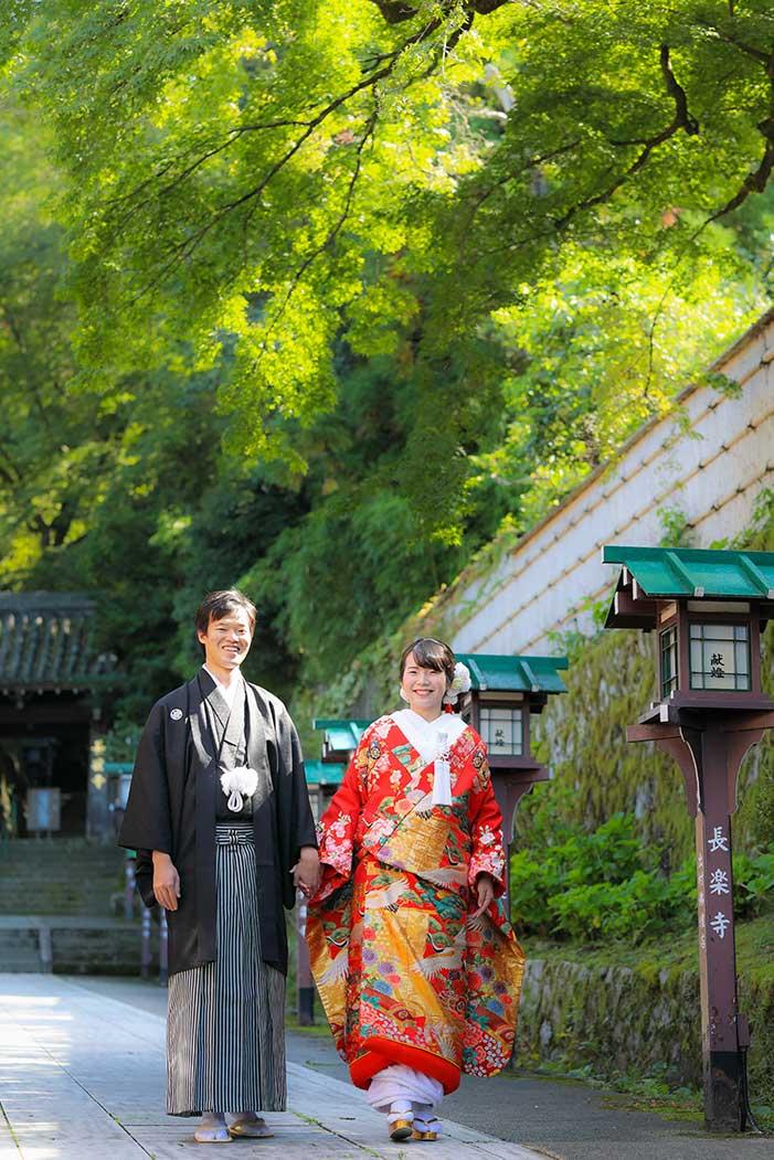 京都長楽寺での前撮り撮影