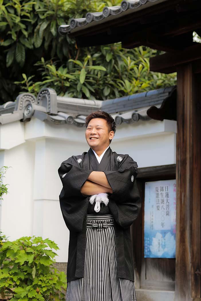 新郎様の羽織袴のお姿