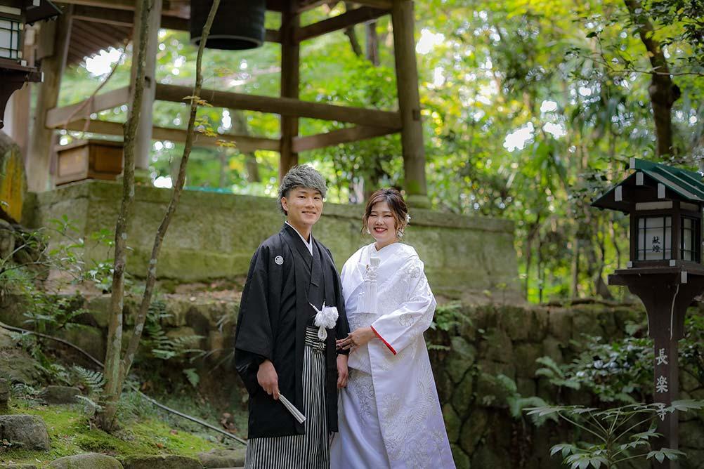 京都長楽寺での白無垢結婚写真