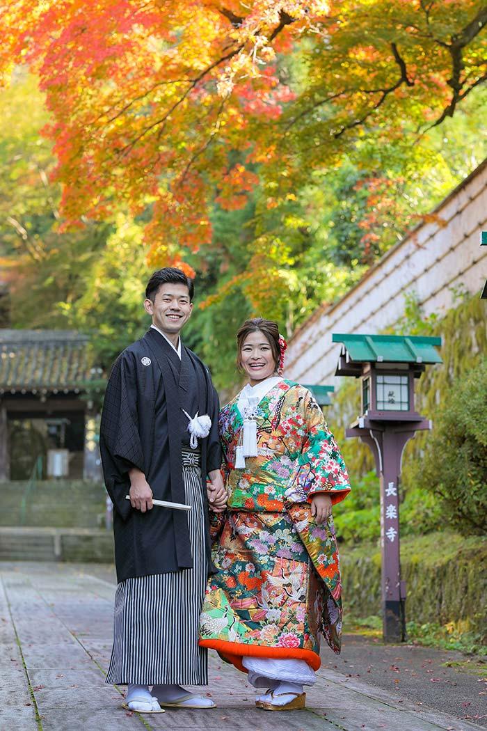 京都の紅葉とフォトウェディング
