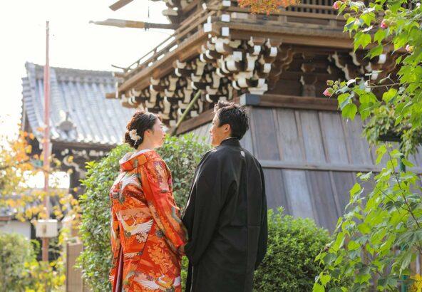 京都妙蓮寺様での後ろ姿のお写真