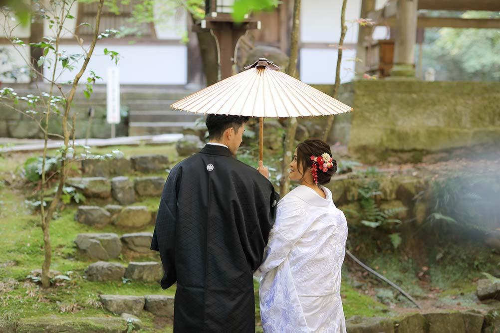 京都長楽寺での和装フォトウェディング 写真