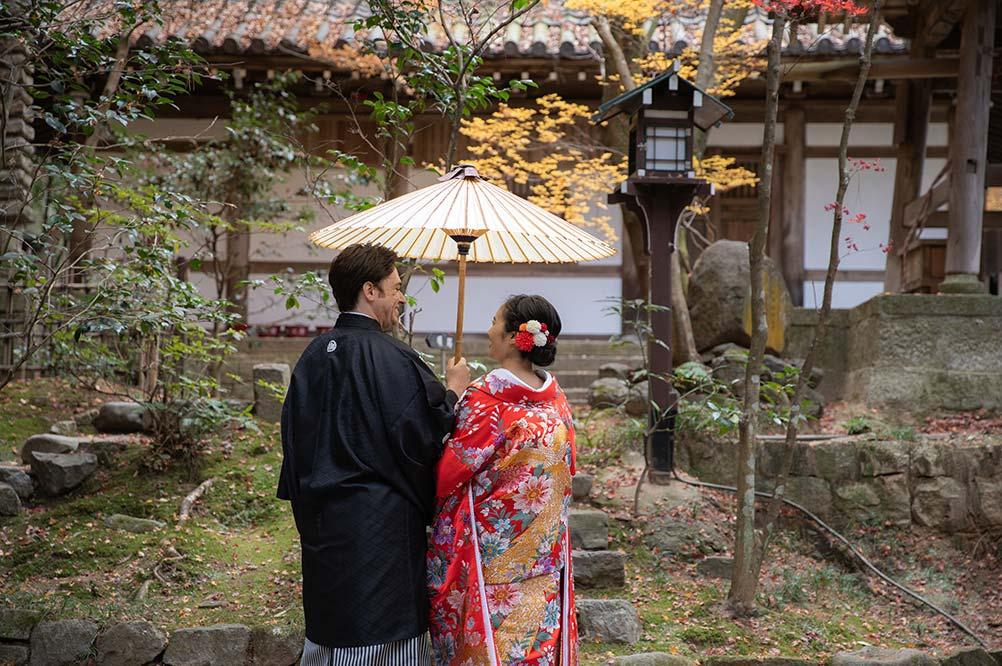 国際結婚の前撮りin京都