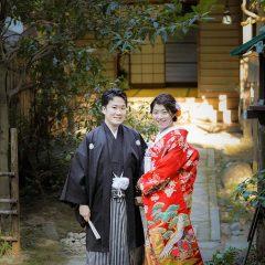 京都の長楽寺での和装前撮りお写真